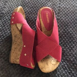 Maurice's Red Wedge Sandals